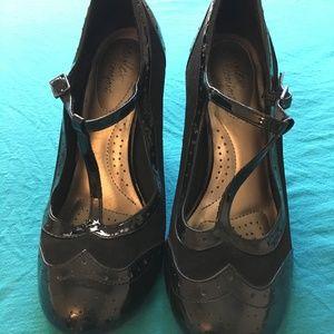 1920's Vintage Style Black Heels
